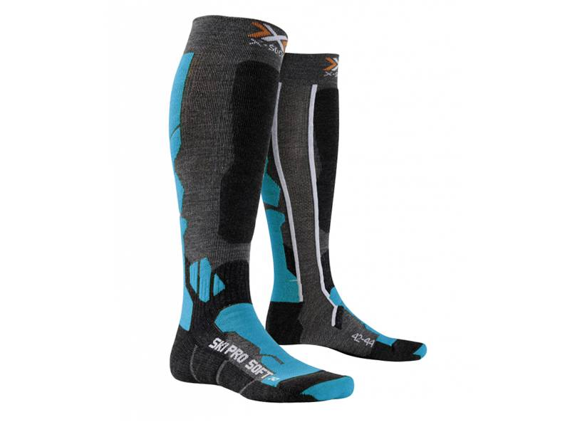 Skarpety X-Socks Ski Pro Soft Anthracite Azure X7A 2019 najtaniej
