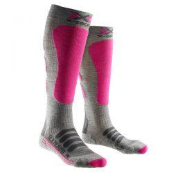 Skarpety X-Socks Ski Silk Merino Lady Grey Fuchsia G361 2019 najtaniej