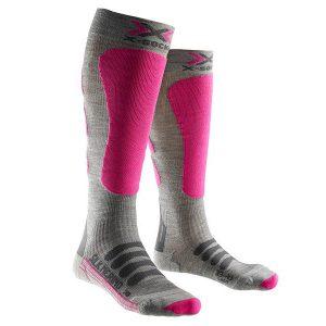 Skarpety X-Socks Ski Silk Merino Lady Grey Fuchsia G361 2018 najtaniej