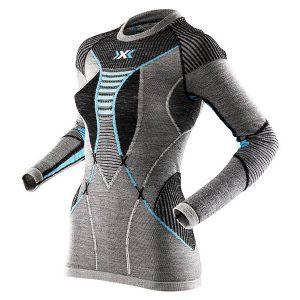 Koszulka termoaktywna X-Bionic Apani Merino Woman Black Grey Blue B284 2018 najtaniej