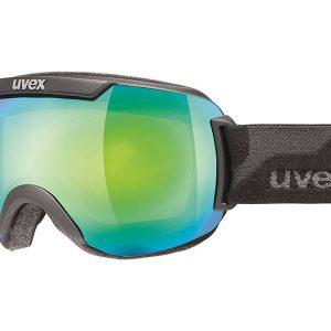 Gogle UVEX Downhill 2000 FM Black Mat Mirror Green Lasergold Lite (2326) 2018 najtaniej