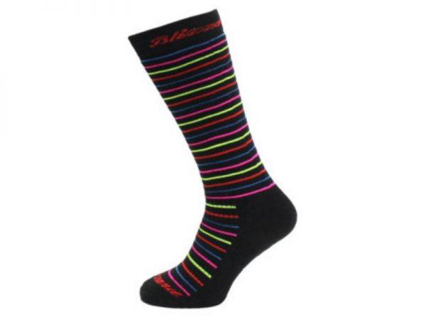 Skarpety Blizzard Viva Allround Ski Socks Junior Black Anthracite Rainbow stripes 2018 najtaniej