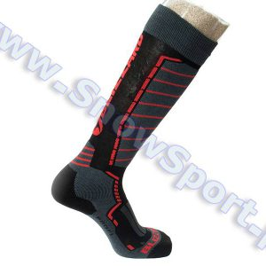 Skarpety Blizzard Profi Ski Socks Black Anthracite Red 2018 najtaniej