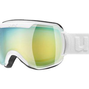 Gogle UVEX Downhill 2000 FM White Mat Mirror Green Lasergold Lite (1030) 2019 najtaniej