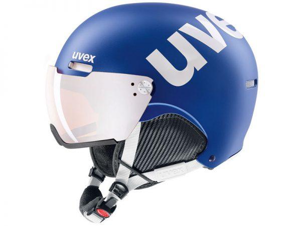Kask z przyłbicą szybą Uvex Hlmt 500 Visor Cobalt white mat / Litemirror Silver 2019 najtaniej