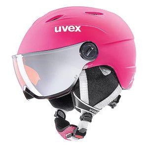 Kask z przyłbicą szybą Uvex Junior Visor Pro Pink Mat 2019 najtaniej