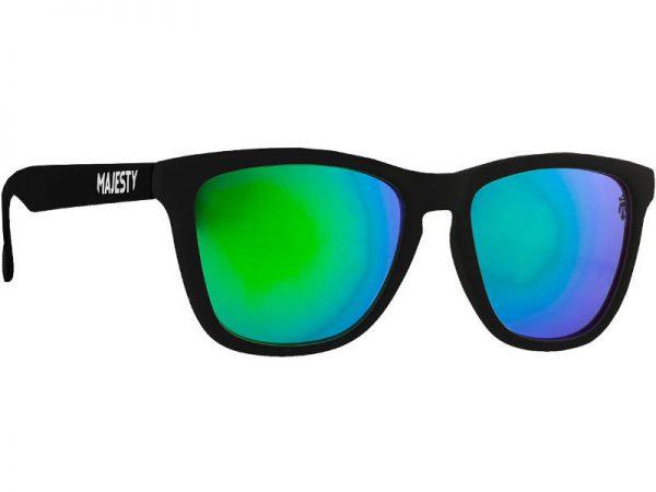 Okulary Majesty M+ Black White/Green Mirror Lenses najtaniej