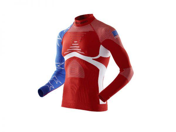 Koszulka termoaktywna z golfem X-Bionic Turtle Neck Energy Accumulator EVO Patriot Edition USA 2019 najtaniej