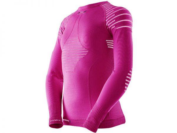 Koszulka termoaktywna X-Bionic Invent Junior Pink White P075 2019 najtaniej