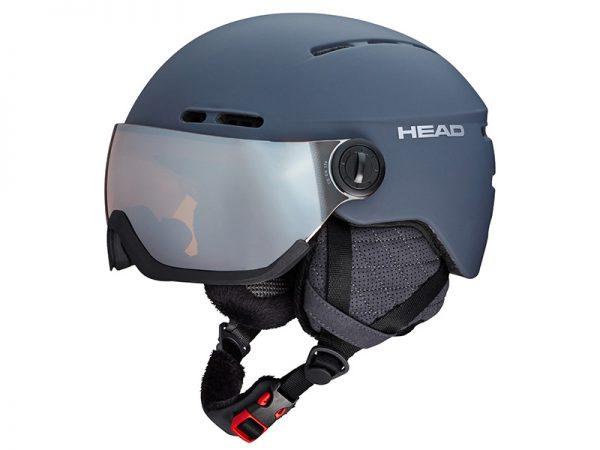 Kask z Przyłbicą Szybą HEAD Knight Pro Anthracite + Sparelens 2019 najtaniej