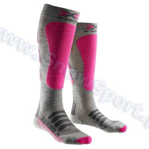 Skarpety X-Socks Ski Silk Merino Lady grey fuchsia najtaniej