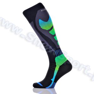 Skarpety SPAIO Ski Effort Compression Black/Green 2015 najtaniej