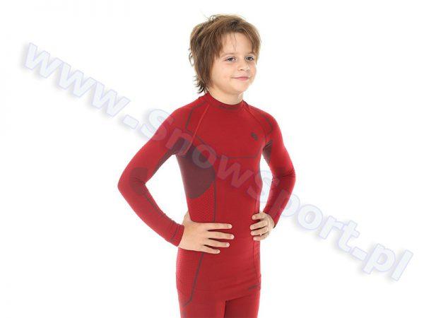 Koszulka Chłopięca BRUBECK KIDS THERMO DARK RED (LS11460) najtaniej