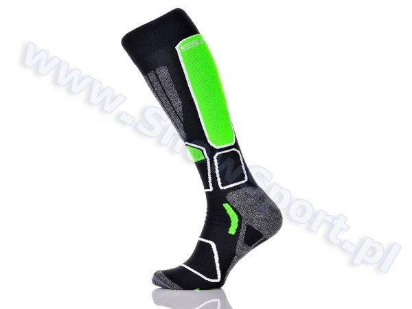 Skarpety SPAIO Ski Power Black Green 2015 najtaniej