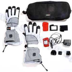 Ogrzewane rękawice narciarskie Glovii GS2 Białe najtaniej