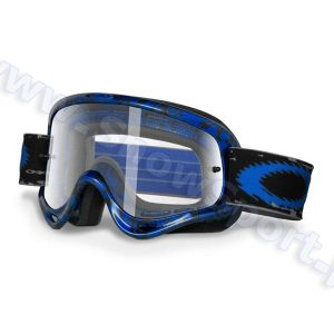 Gogle Motocross OAKLEY O Frame MX Blue Tribal Clear (01-637) najtaniej