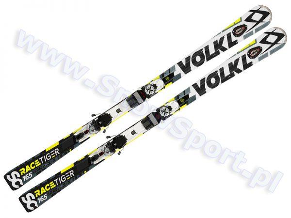 Narty Volkl Racetiger SC UVO White + wiązania xMOTION 12.0 TCX D 2017 [116051] najtaniej