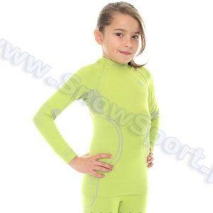 Koszulka Dziewczęca Termoaktywna BRUBECK KIDS THERMO LIME (LS11450) najtaniej
