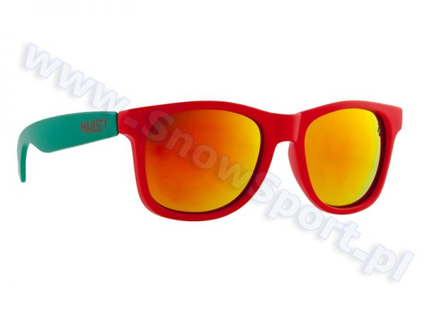Okulary Majesty Shades L+ Red Turquoise / Red Mirror Lenses najtaniej