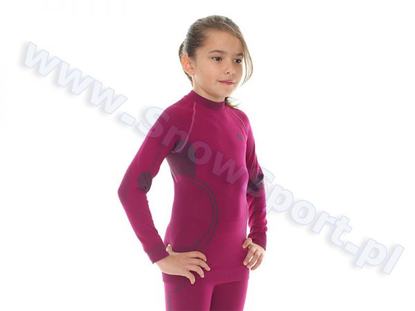 Koszulka Dziewczęca Termoaktywna BRUBECK KIDS THERMO BERRY (LS11450) najtaniej
