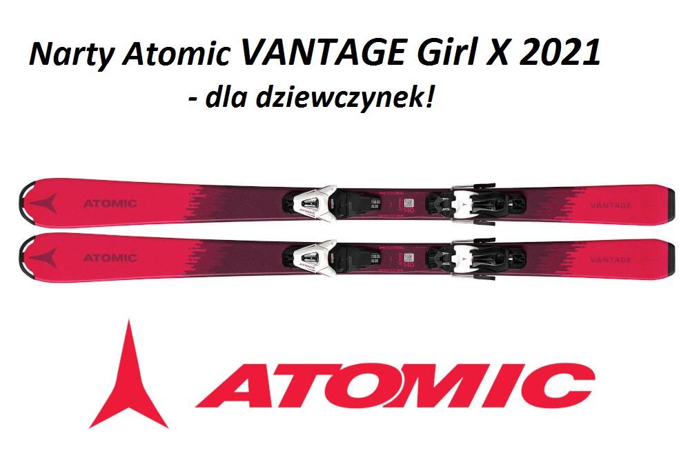 Narty Atomic VANTAGE Girl X 2021 - dla dziewczynek!