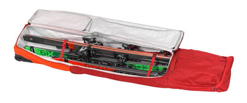 Pokrowiec z kółkami na narty ATOMIC RS Ski Wheelie 4 Pairs Bright Red / Dark Red 2021