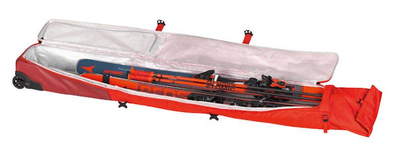 Pokrowiec z kółkami na narty ATOMIC RS Double Ski Wheelie Red / Rio Red 2021