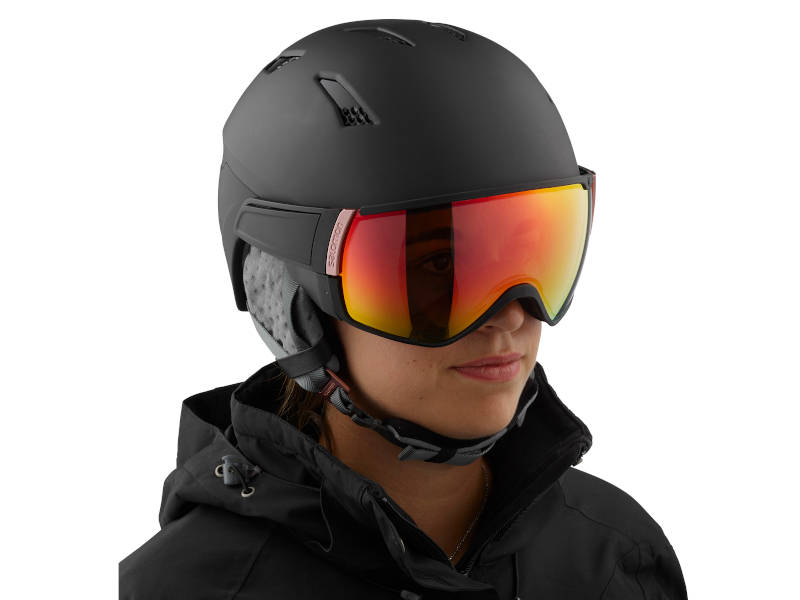 Kask z przyłbicą szybą SALOMON MIRAGE+ PHOTO Black Rose Gold AW 2021