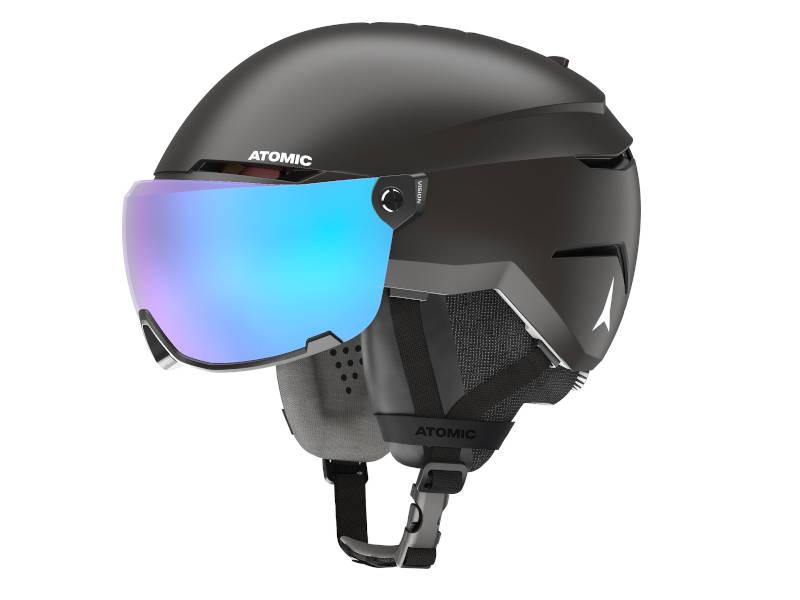 Kask narciarski z szybą Kask z przyłbicą szybą Atomic Savor Visor Stereo Black 2021
