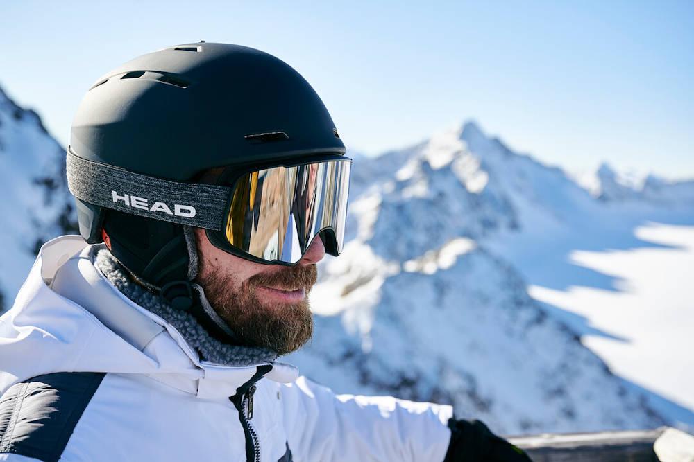 Kask narciarski męski czarny - model 2021