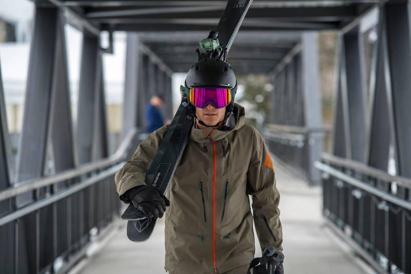 Kask narciarski męski czarny