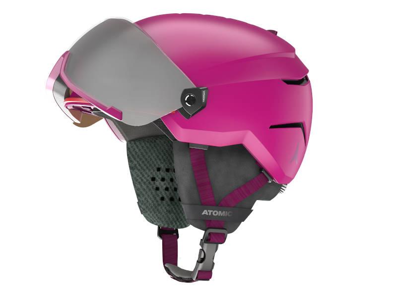 Kask narciarski z przyłbicą szybą Atomic Savor Visor Jr 2021