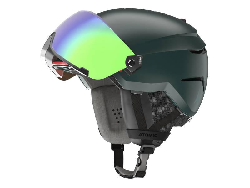 Kask narcairski z przyłbicą szybą Atomic Savor Visor Stereo 2021