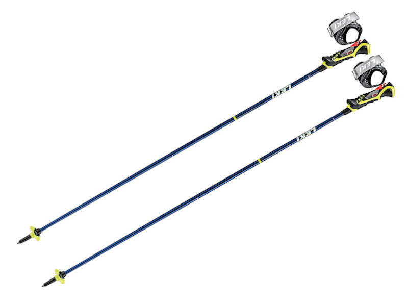 Kijki narciarskie LEKI Carbon 14S 3D Blue Metalic Neon Yellow 2021