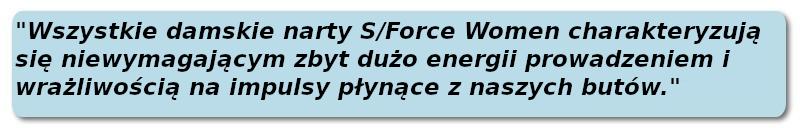 Narty Salomon Damskie - S FORCE W 2021