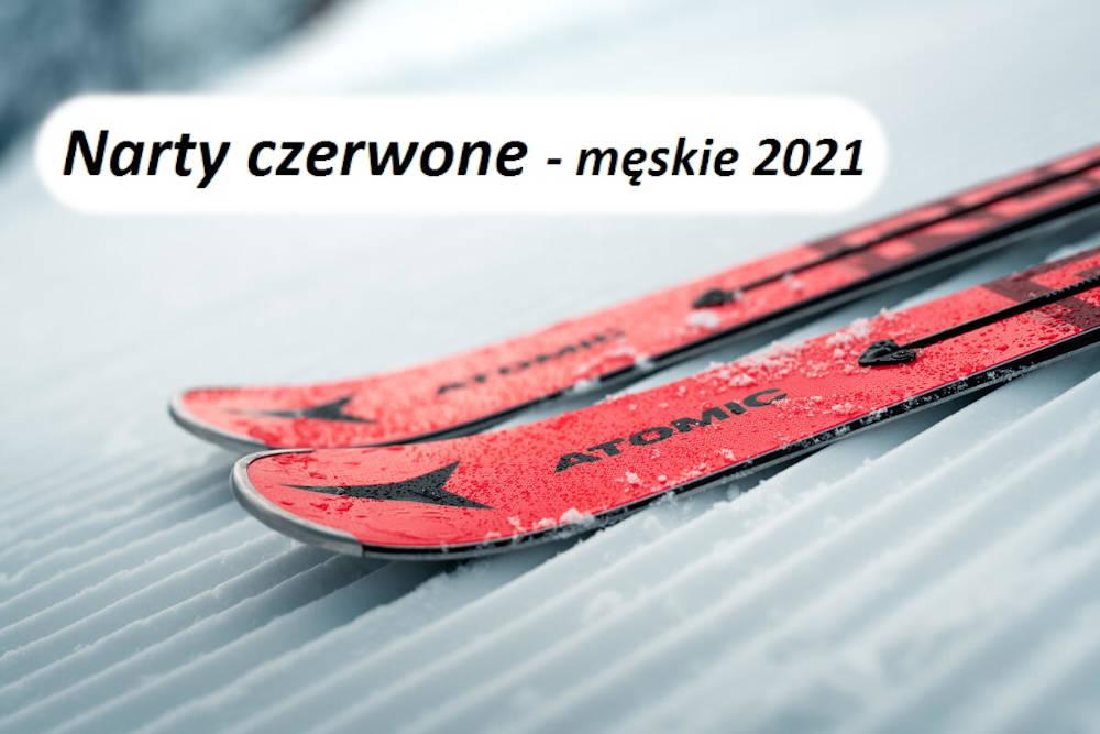 Narty czerwone - męskie 2021