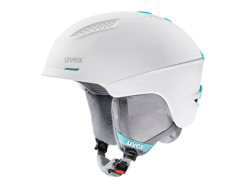 Kask narciarski damski biały Uvex Ultra White Mint Mat 2021